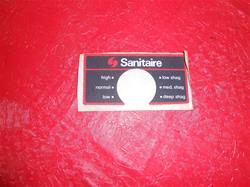 Sanitaire Nameplate 37654